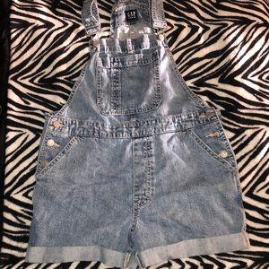 gap denim short overalls